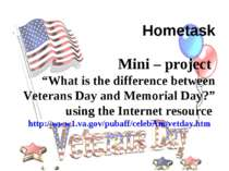 """Hometask Mini – project """"What is the difference between Veterans Day and Memo..."""