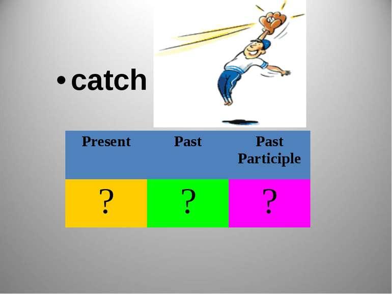 catch Present Past Past Participle ? ? ?
