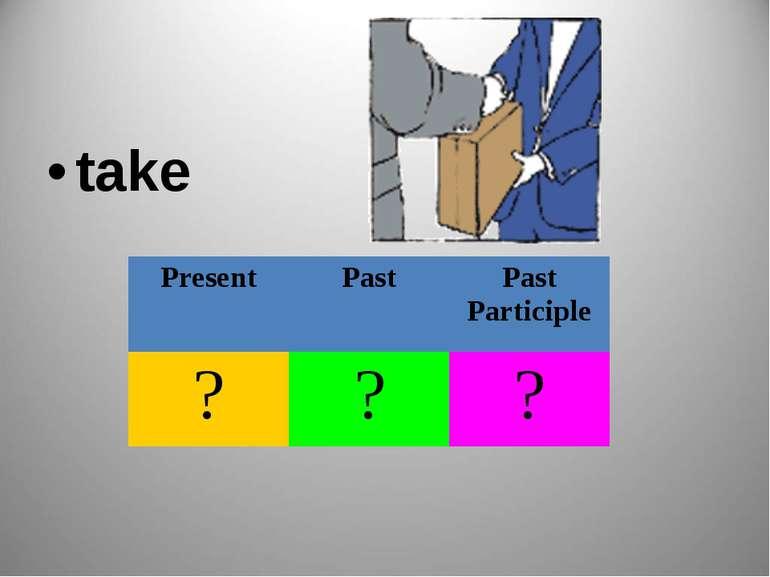take Present Past Past Participle ? ? ?
