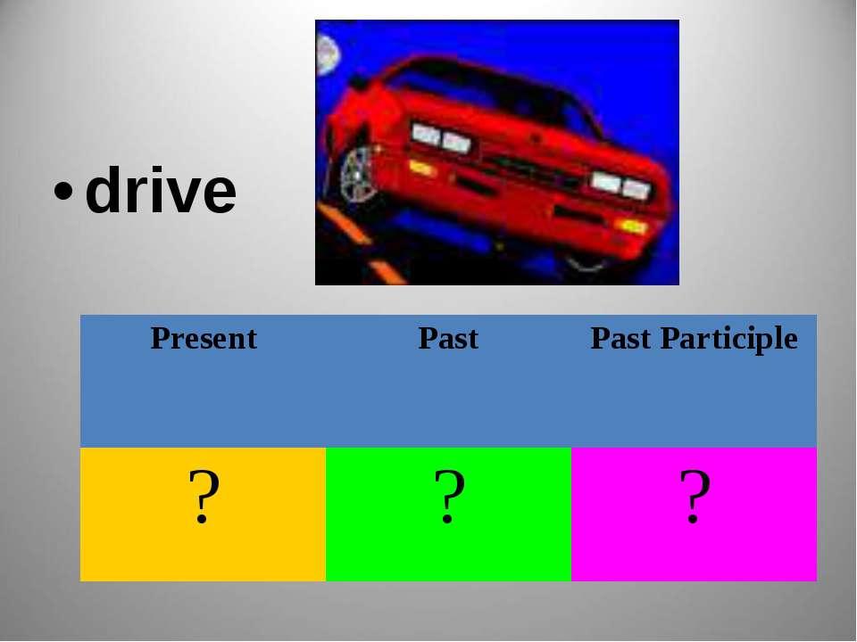 drive Present Past Past Participle ? ? ?