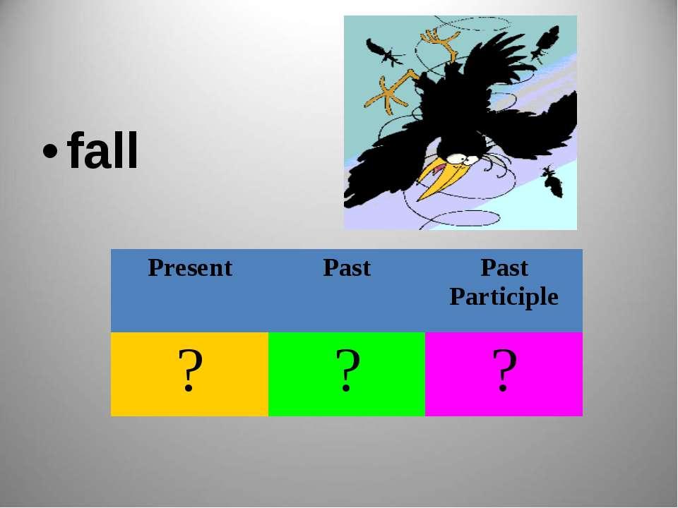 fall Present Past Past Participle ? ? ?