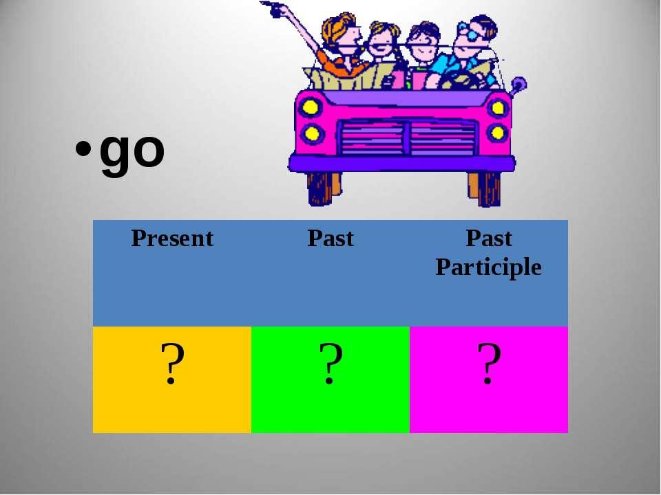 go Present Past Past Participle ? ? ?