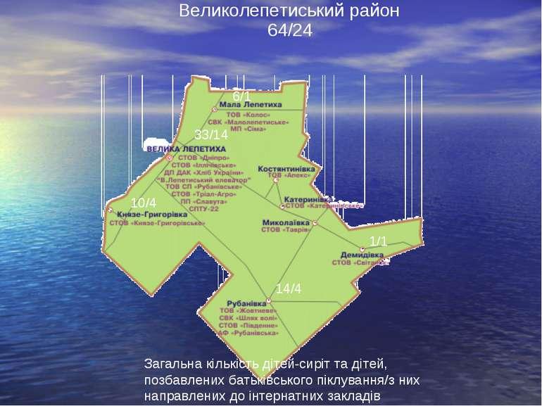 Великолепетиський район Загальна кількість дітей-сиріт та дітей, позбавлених ...