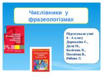 Числівники у фразеологізмах Підготували учні 6 - А класу Дорожкіна Є., Доля М...