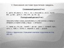 V. Виконання системи практичних завдань. Словниковий диктант(4 хв.) Б…регти, ...