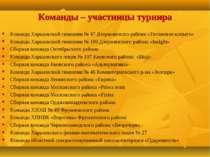 Команды – участницы турнира Команда Харьковской гимназии № 47 Дзержинского ра...