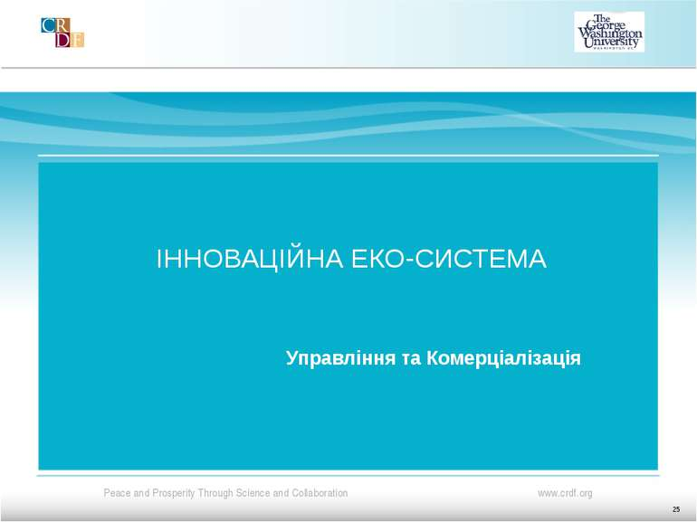 ІННОВАЦІЙНА ЕКО-СИСТЕМА Управління та Комерціалізація 25
