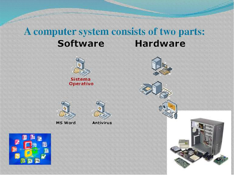 A computer system consists of two parts: