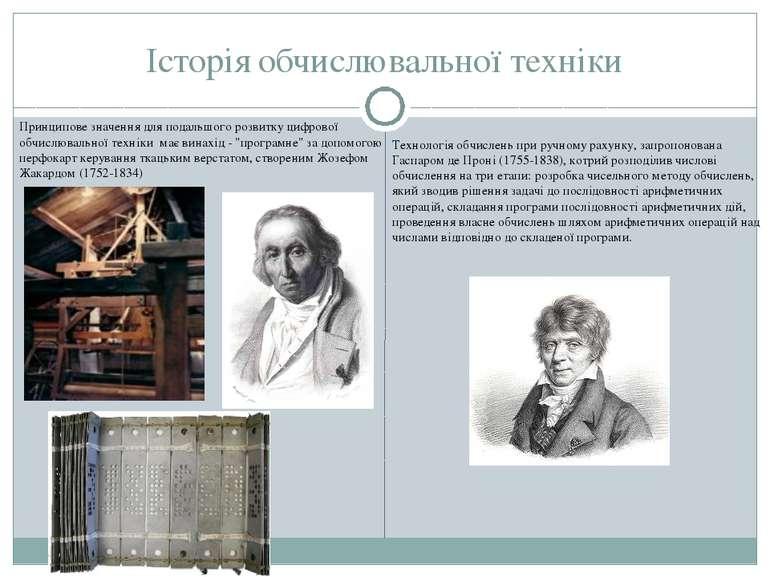 Історія обчислювальної техніки Принципове значення для подальшого розвитку ци...