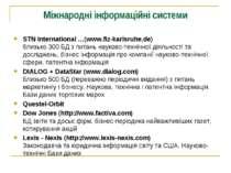 Міжнародні інформаційні системи STN International …(www.fiz-karlsruhe.de) бли...