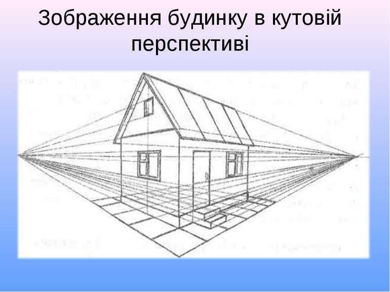 Зображення будинку в кутовій перспективі