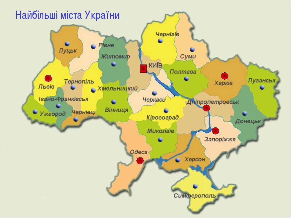 Найбільші міста України