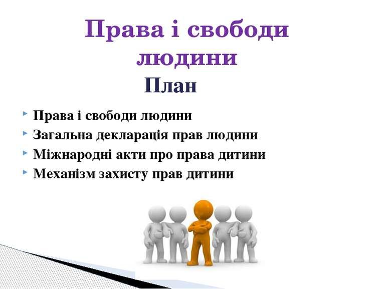 Права і свободи людини Загальна декларація прав людини Міжнародні акти про пр...