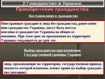 2.Гражданство в Украине. Восстановление в гражданстве Иностранные граждане и ...