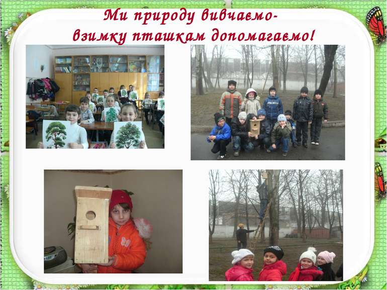 Ми природу вивчаємо- взимку пташкам допомагаємо!