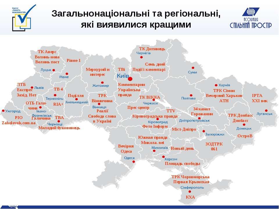 Загальнонаціональні та регіональні, які виявилися кращими ТВі Комментарии Укр...