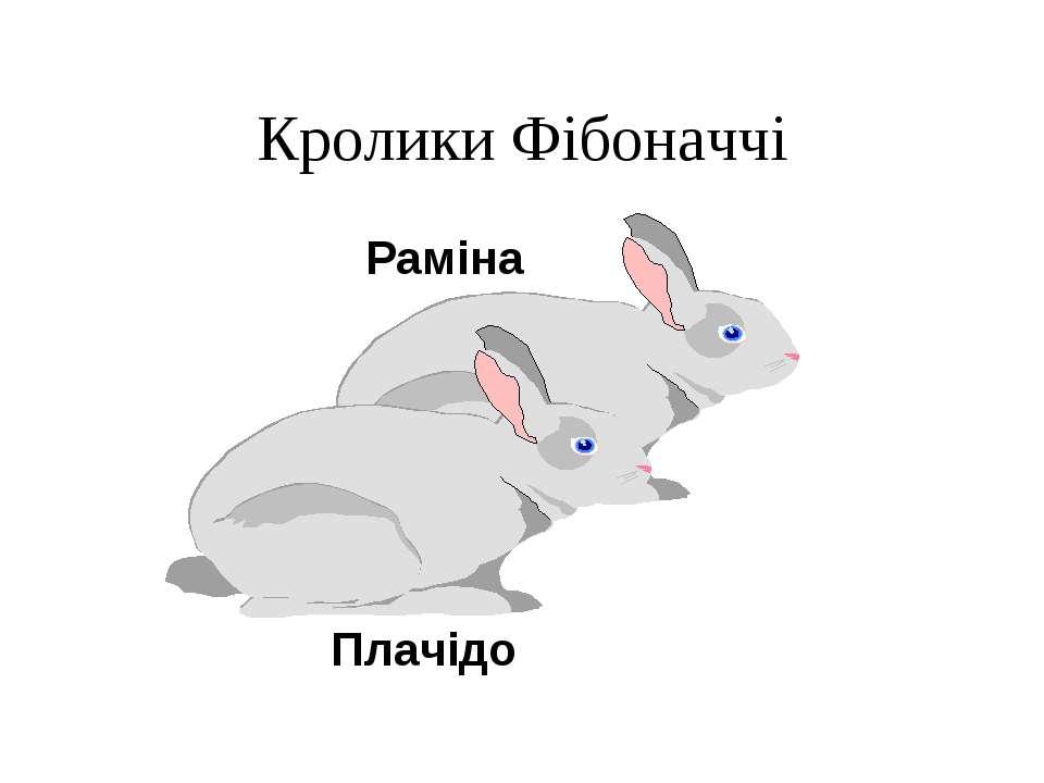 Кролики Фібоначчі Раміна Плачідо