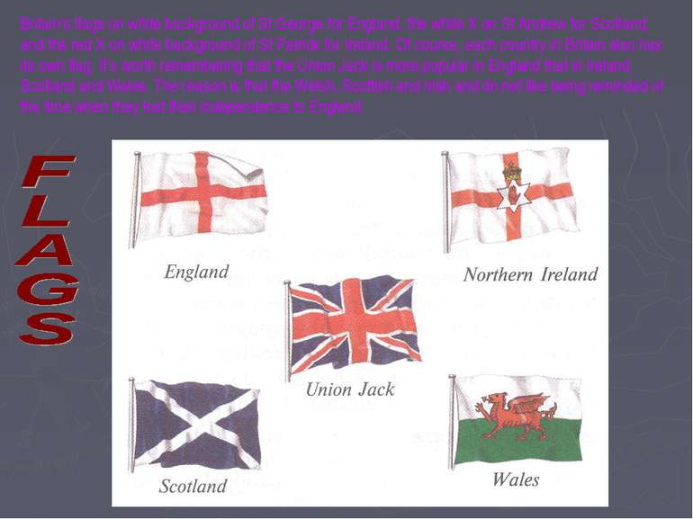 Britain's flags on white background of St George for England, the white X on ...