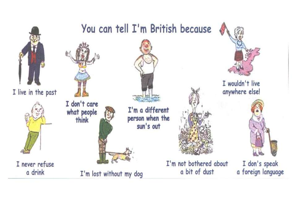 You can tell I am british because...