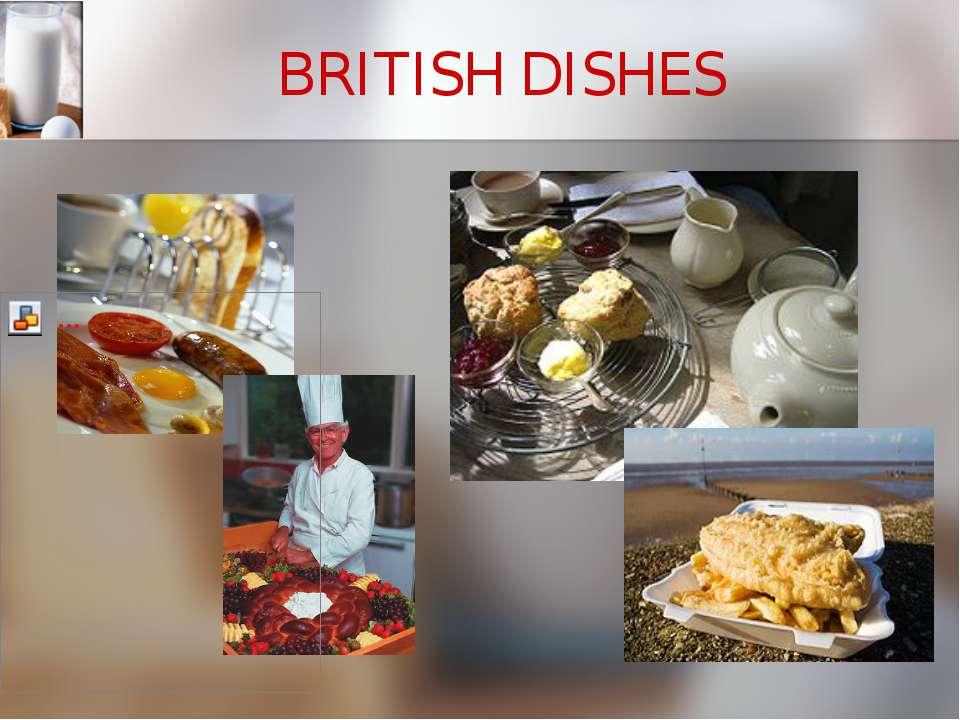 BRITISH DISHES