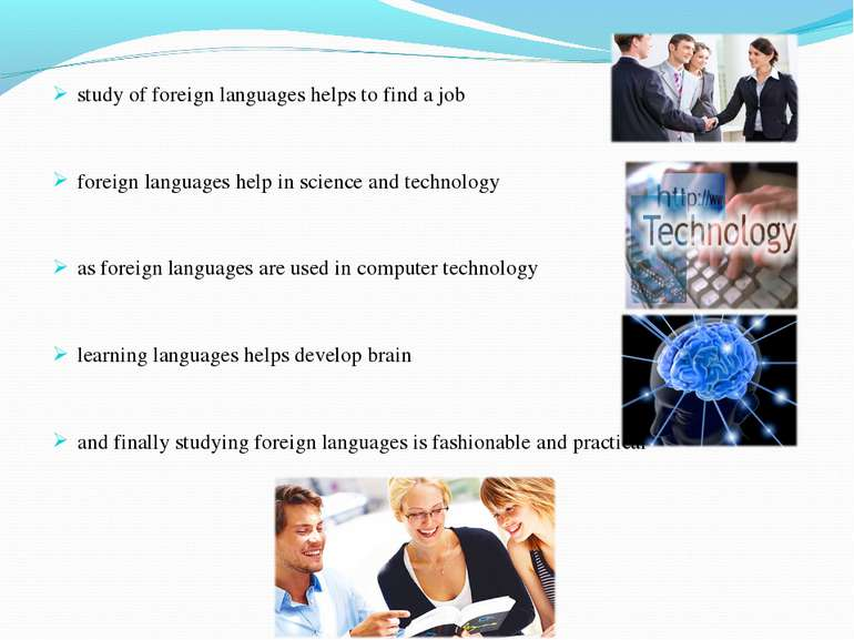 study of foreign languages helps to find a job foreign languages help in scie...