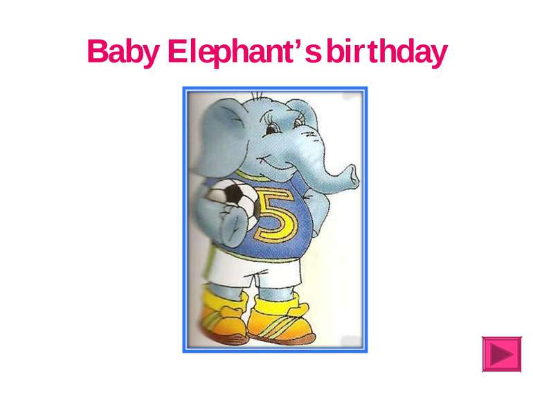 Baby Elephant's birthday