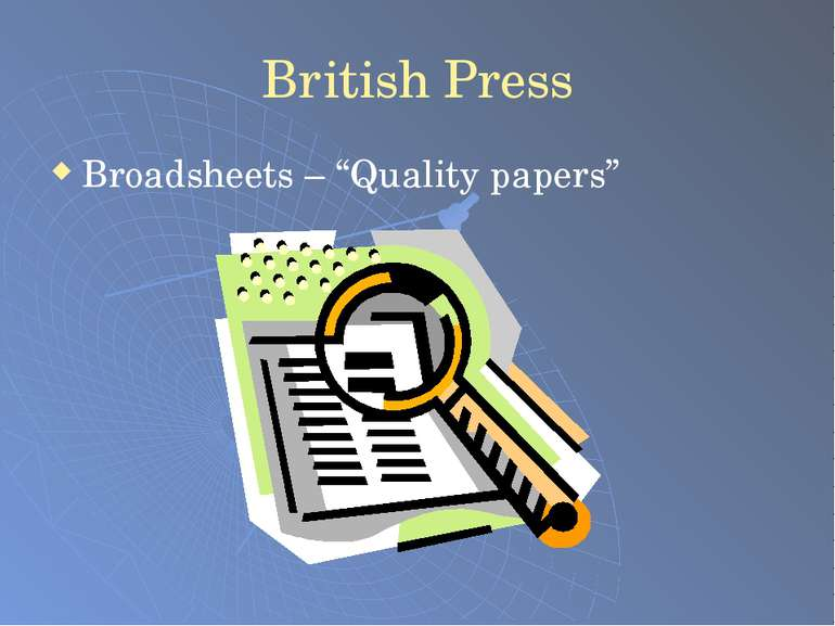 "British Press Broadsheets – ""Quality papers"""