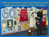 Pupils at Dersingham Infant and Nursery School treat Queen to rendition of Th...