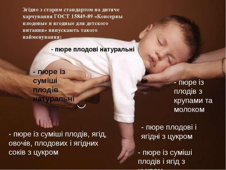 Згідно з старим стандартом на дитяче харчування ГОСТ 15849-89 «Консервы плодо...