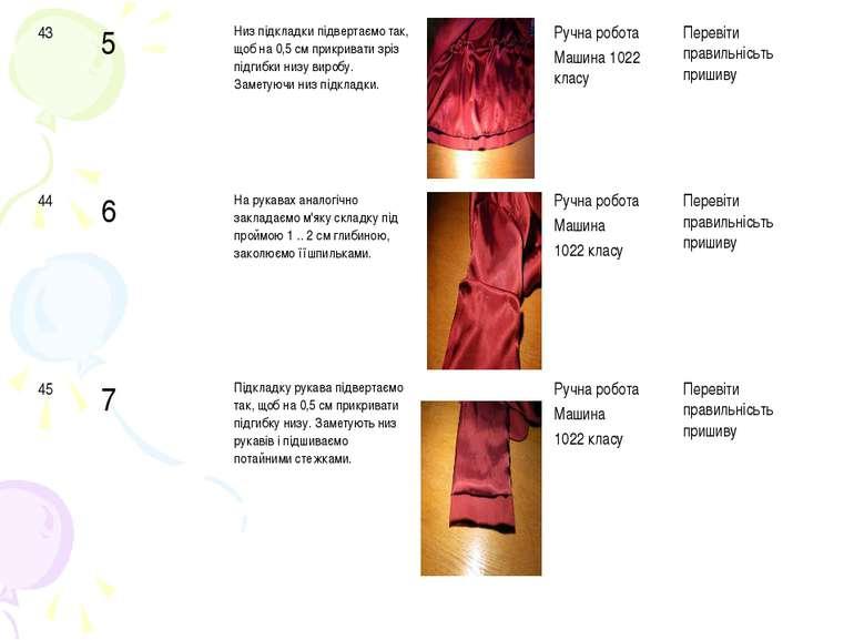 43 5 Низ підкладки підвертаємо так, щоб на 0,5 см прикривати зріз підгибки ни...