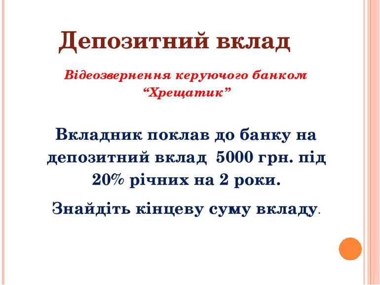 """Депозитний вклад Відеозвернення керуючого банком """"Хрещатик"""" Вкладник поклав д..."""