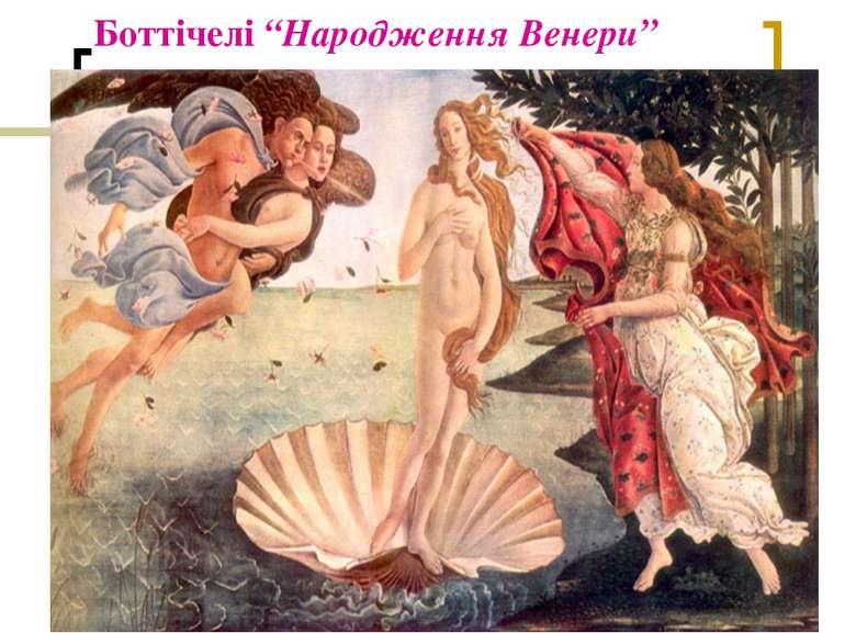 """Боттічелі """"Народження Венери"""""""