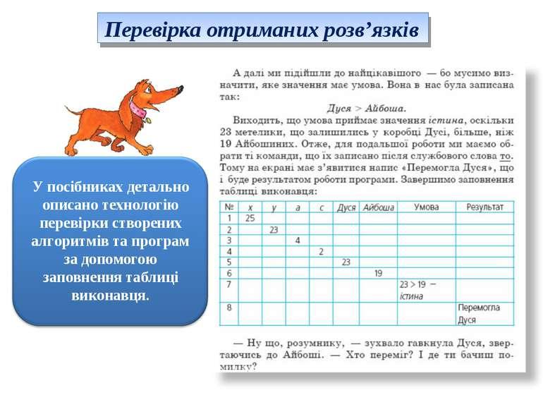 Перевірка отриманих розв'язків У посібниках детально описано технологію перев...