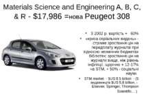 Materials Science and Engineering A, B, C, & R - $17,986 =нова Peugeot 308 З ...