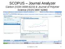 (с) Інформатіо, 2011 * SCOPUS – Journal Analyzer Carbon (ISSN 0008-6223) & Jo...