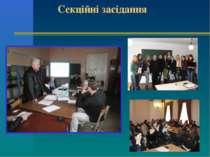 Секційні засідання