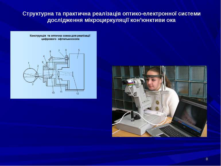 * Структурна та практична реалізація оптико-електронної системи дослідження м...