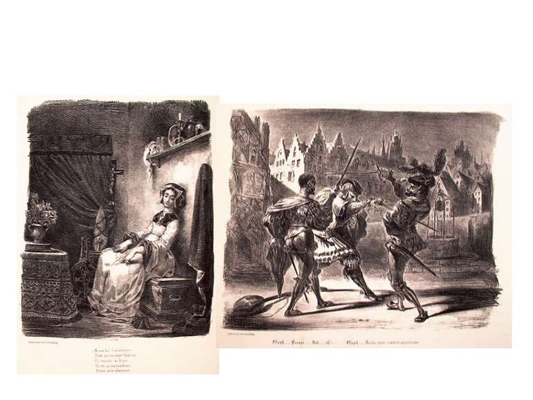 "Картини Ежена Делакруа. Ілюстрації до поеми ""Фауст"" Ґете"