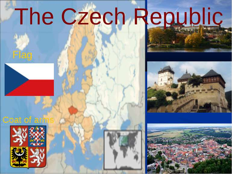 The Czech Republic Flag Coat of arms