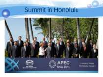 Summit in Honolulu