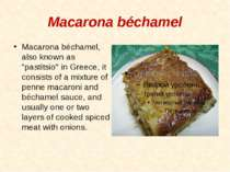 "Macarona béchamel Macarona béchamel, also known as ""pastitsio"" in Greece, it ..."