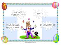 WAY OF CELEBRATING DATE IN MEMORY OF SYMBOLS OF THE HOLIDAY