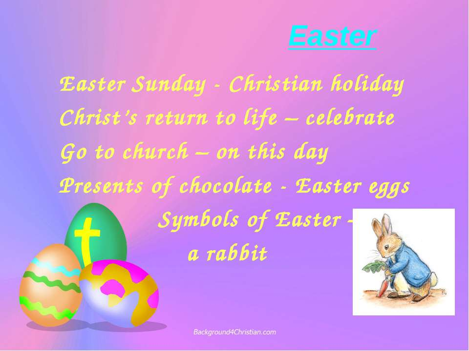 Easter Easter Sunday - Christian holiday Christ's return to life – celebrate ...