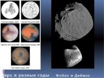 Марс в разные годы Фобос и Деймос
