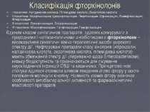 Класифікація фторхінолонів І покоління: Налідиксова кислота; Піпемідієва кисл...