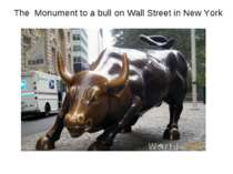 The Monument to a bull on Wall Street in New York