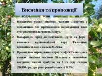 Висновки та пропозиції Кліматичні умови північної частини Лісостепу є придатн...