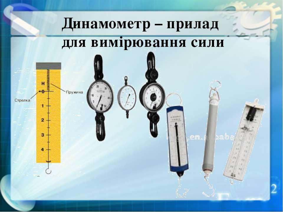 Динамометр – прилад для вимірювання сили