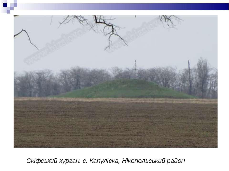 Скіфський курган. с. Капулівка, Нікопольський район