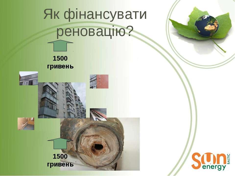 Як фінансувати реновацію? 1500 гривень 1500 гривень